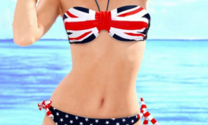 Купальник с принтом: флаг Великобритании #117